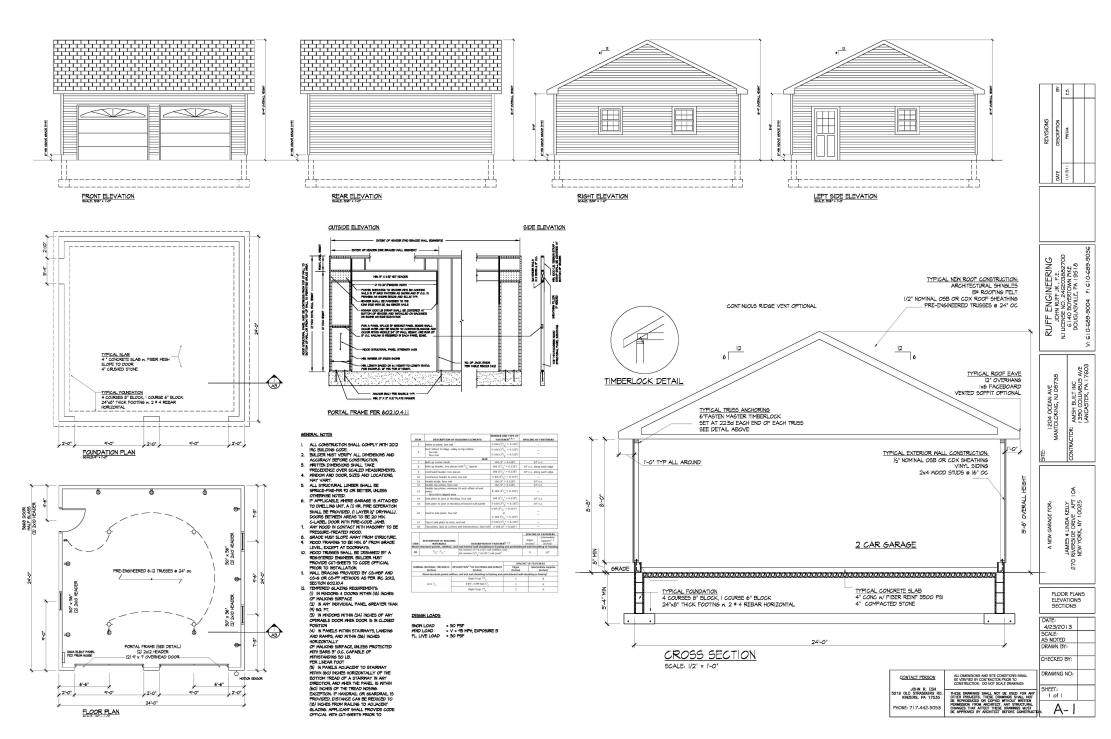Garage building an excellent home design for Garage construction plans
