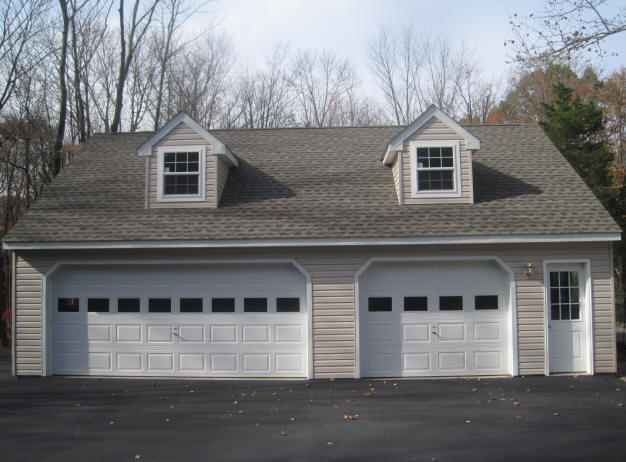 Stick built garages for Garage built homes