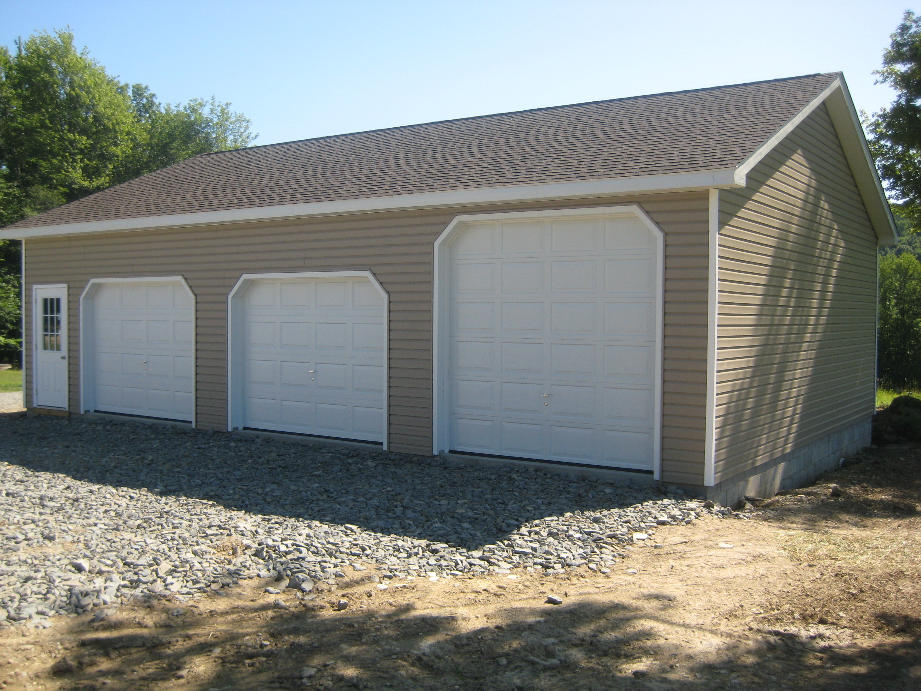 Blachet 3 car garage for 3 bay garage cost