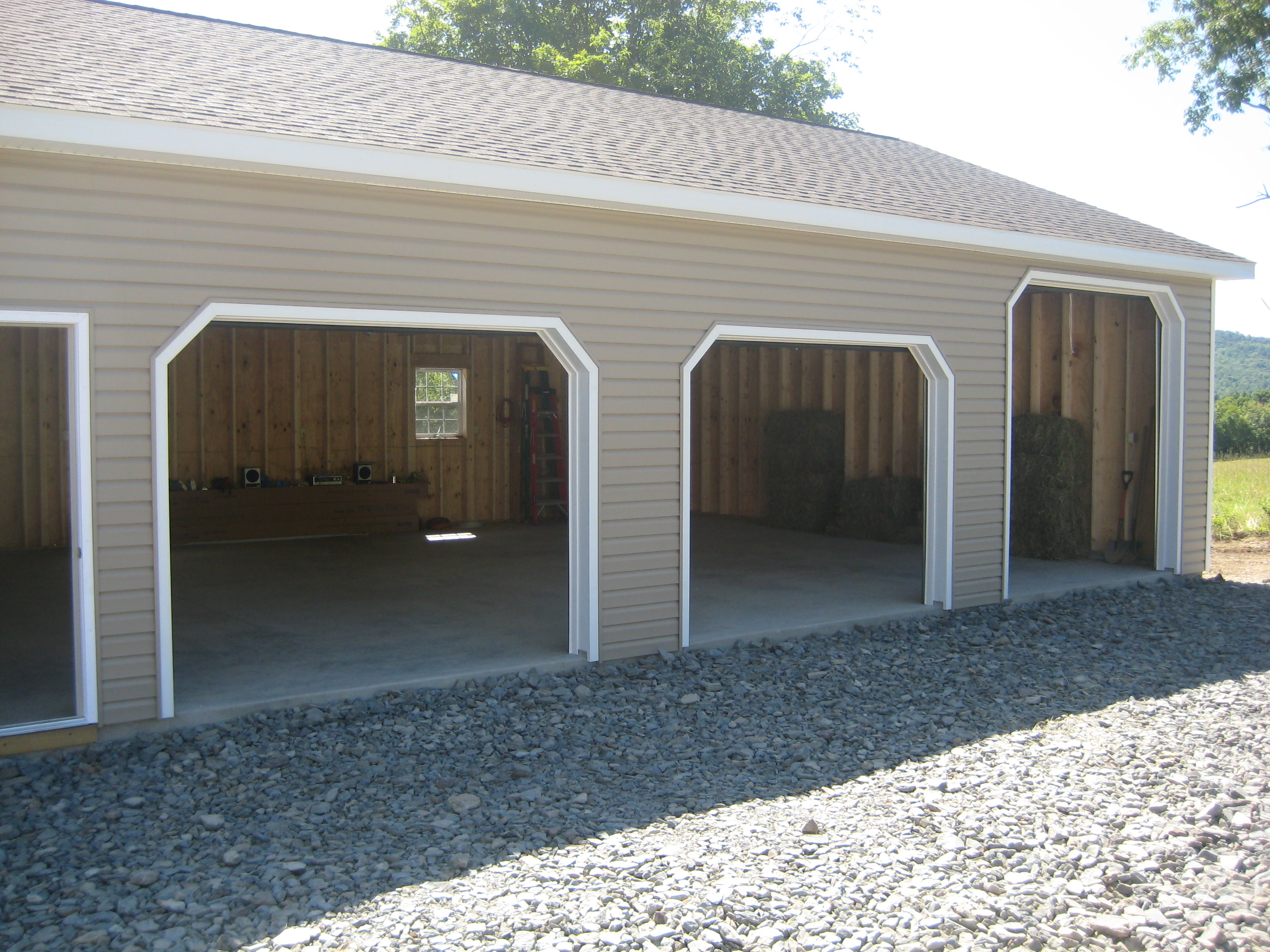 Blachet 3 car garage for 4 bay garage plans